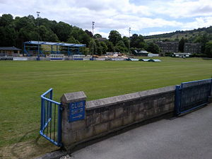 Matlock Town F.C. - The club's home ground, photographed during the summer while development work was going on