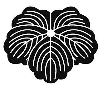 Matsunaga clan - Tsuta-mon (Ivy crest) is a family crest for the Matsunaga clan