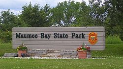 Maumee bay state park entrance sign jpg