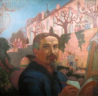 Maurice Denis - Image: Maurice Denis Autoportrait Devant Le Prieure