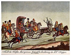 Nicholas Mavrogenes - Mavrogenes in a deer-drawn carriage