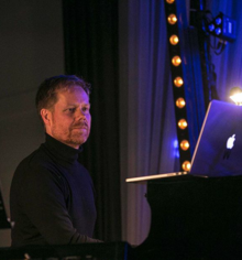 Max Richter performing as a pianist