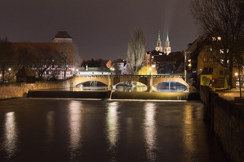 Maxbrücke Nürnberg Nacht