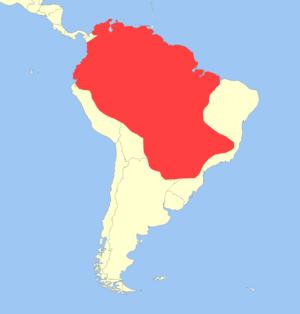 Red brocket - Image: Mazama americana distribution