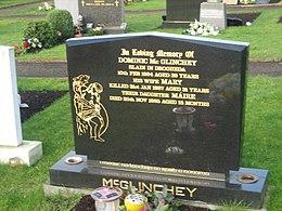 colour photo of the McGlinchey gravestone