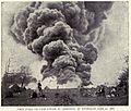 McLaurin(1902) pic.195 First Steel Oil-Tank struck by Lightning - Titusville, June 11, 1880.jpg
