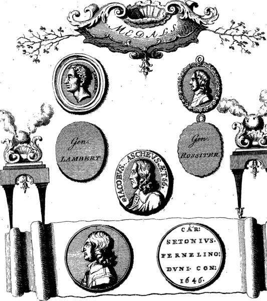 File:Medals, coins, great seals, and other works of Thomas Simon- engraved and described by George Vertue Fleuron T138035-7.png