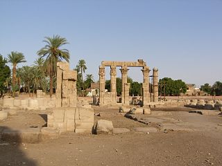 Medamud Village in Luxor Governorate, Egypt