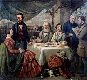 Carlo Felice Biscarra - Meeting with Garibaldi
