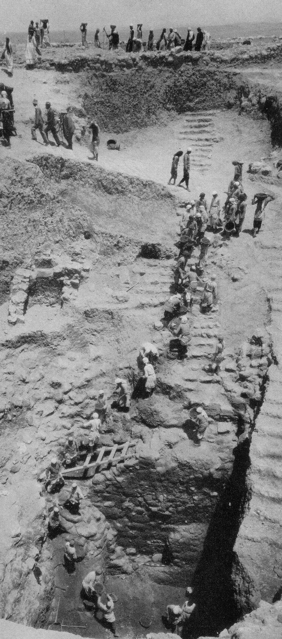 Megiddo water system excavations 1925-1939