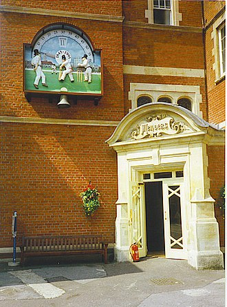 Harold Larwood - The entrance to the pavilion at the Oval, the ground where Larwood helped England to regain the Ashes in 1926