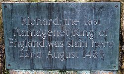 Photo of Richard III black plaque