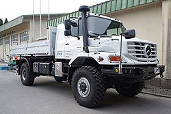Mercedes-Benz Zetros as a relief vehicle for the 2011 Tohoku Earthquake.jpg