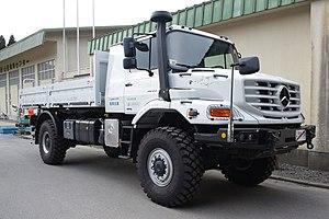 Mercedes-Benz Zetros - Image: Mercedes Benz Zetros as a relief vehicle for the 2011 Tohoku Earthquake
