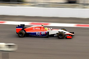 Manor Motorsport - Roberto Merhi driving the Marussia MR03B at the 2015 Russian Grand Prix.