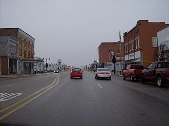 Indiana State Road 26 - Meridian Street in Portland.