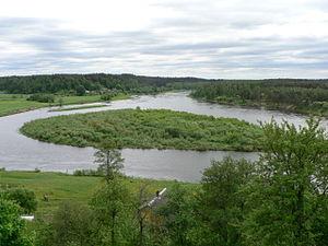 Merkinė - Bend of Nemunas River in Merkinė