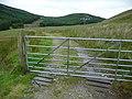 Metal gate on a track - geograph.org.uk - 1991947.jpg