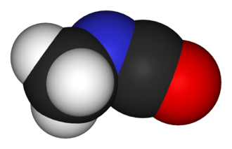 Methyl isocyanate - Image: Methyl isocyanate 3D vd W