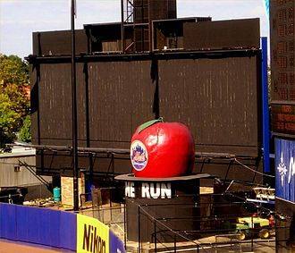 History of the New York Mets - The home run apple in Shea Stadium