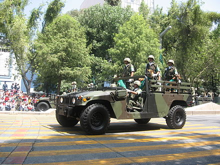 Mexican army Humvee on 16 September 2007 parade 3724d4e7925