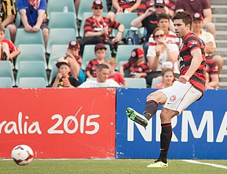 Michael Beauchamp - Beauchamp with the Western Sydney Wanderers in 2013