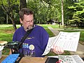 Michael Kenny identifying macroinvertebrate stream animals (4947686745).jpg