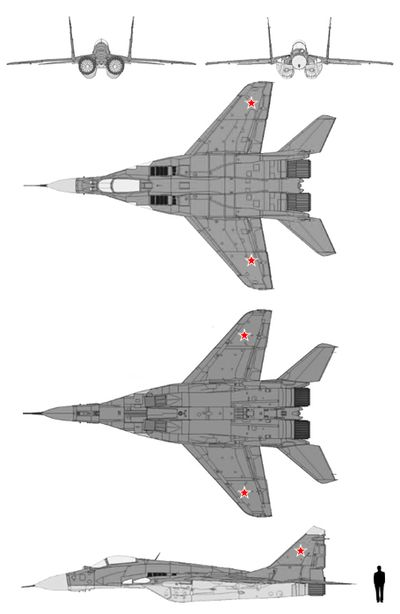 schematics of mig 29 russian air force