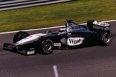 2ee8eb2d38b Mika Häkkinen won the 1998 and 1999 Drivers  Championships with McLaren. He  is shown