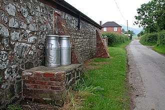Milk churn - Milk churn stand