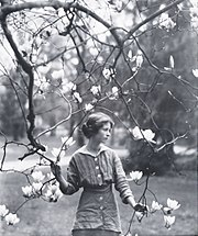 Edna St. Vincent Millay in 1914, photographed by Arnold Genthe.