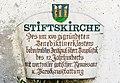 Millstatt Pfarrkirche Christus Salvator West-Wand Tafel mit Beschreibung 20042015 2267.jpg