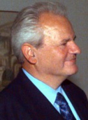 President of the Presidency of SR Serbia - Image: Milosevic Lopez cropped 1