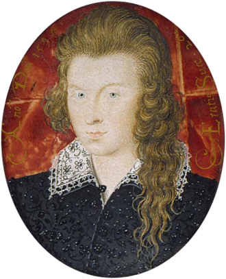 Shakespeare's sonnets - Henry Wriothesley, 3rd Earl of Southampton at 21. Shakespeare's patron, and one candidate for the Fair Youth of the sonnets.