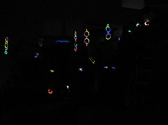Glow stick - Glow sticks providing decor at a party