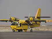 Twin radial engine Canadair CL-215 flying boat used for firefighting by the Minnesota Department of Natural Resources