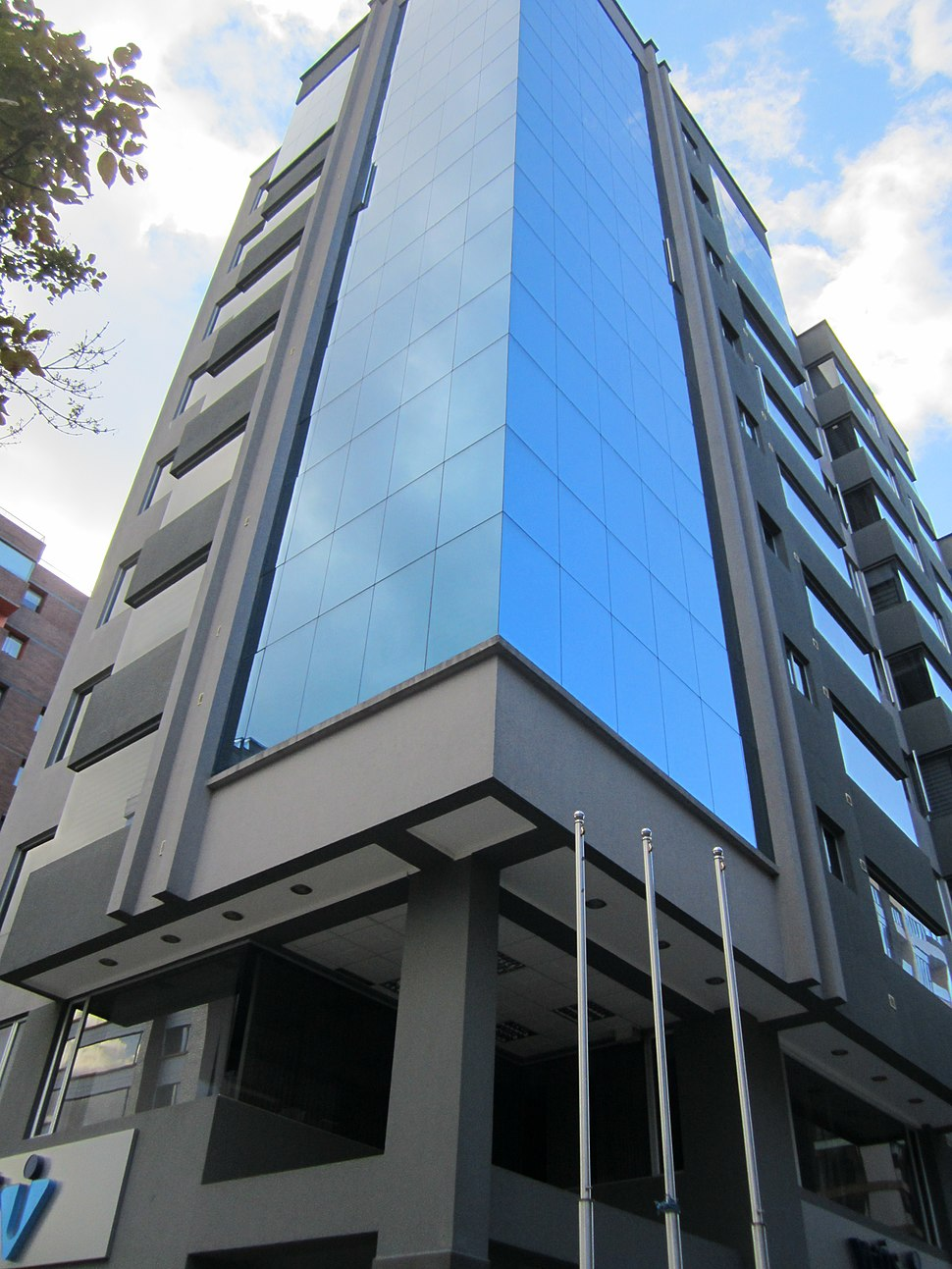 Modern Building in Quito, capital city of Ecuador,