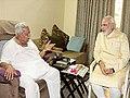 Modi visits Keshubhai Patel and seeks his blessings.jpg