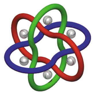 Molecular Borromean rings - Schematic of a molecular Borromean ring.