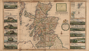 "A 1726 map showing ""The north part of Great Britain called Scotland"""