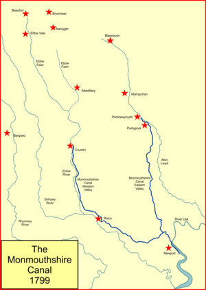 Monmouthshire Railway and Canal Company - The Monmouthshire Canal system