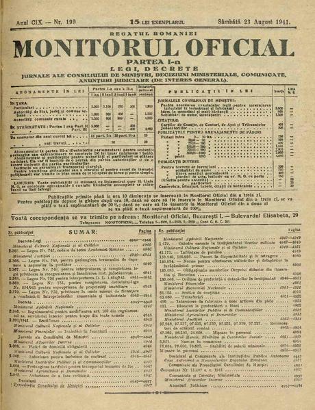 File:Monitorul Oficial al României. Partea 1 1941-08-23, nr. 199.pdf