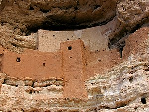 Montezuma Castle National Monument - A close-up view of the Castle