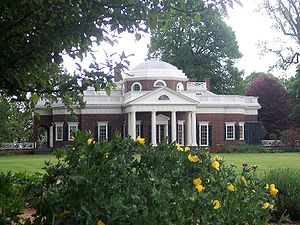 Charlottesville, Virginia - View of Monticello from its gardens