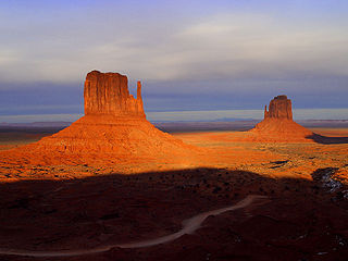 West and East Mitten Buttes mountain in United States of America