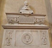 Monumento dedicato a Giulio Arrigoni nella Chiesa dei Santi Giovanni e Reparata di Lucca