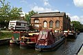 Moored boats opposite Trencherfield Mill on the Leeds and Liverpool Canal - geograph.org.uk - 557320.jpg