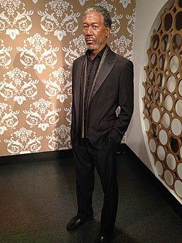 Morgan Freeman figure at Madame Tussauds London