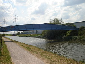 Brimsdown - Mossops Bridge spans the Lee Navigation (completed 1999)