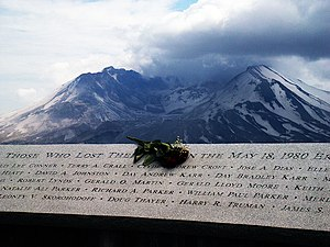 Harry Randall Truman - Truman's name on a plaque with names of the victims of the final eruption.